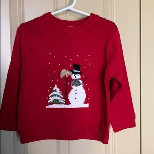 Talbots Kids Snowman Holiday Sweater